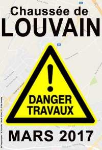 Chaussée de Louvain: Des travaux qui ne soulageront pas la mobilité!