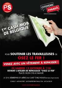 """CASH MOB en soutien aux travailleuses d' """"Osez le fer"""", le samedi 12 octobre à 11h"""